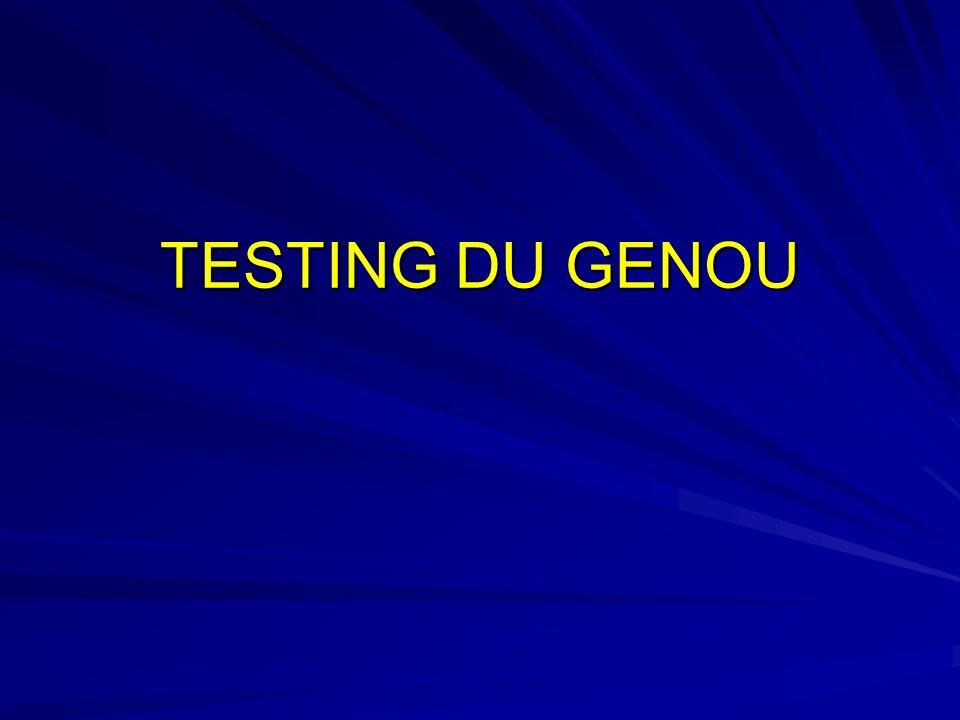 TESTING DU GENOU