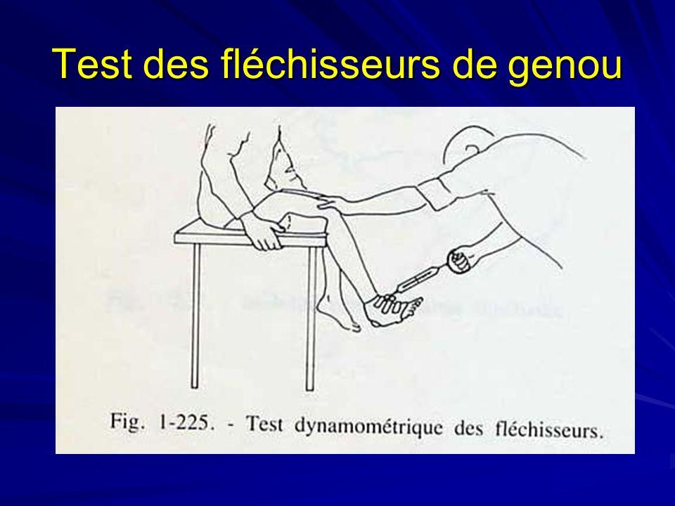 Test des fléchisseurs de genou