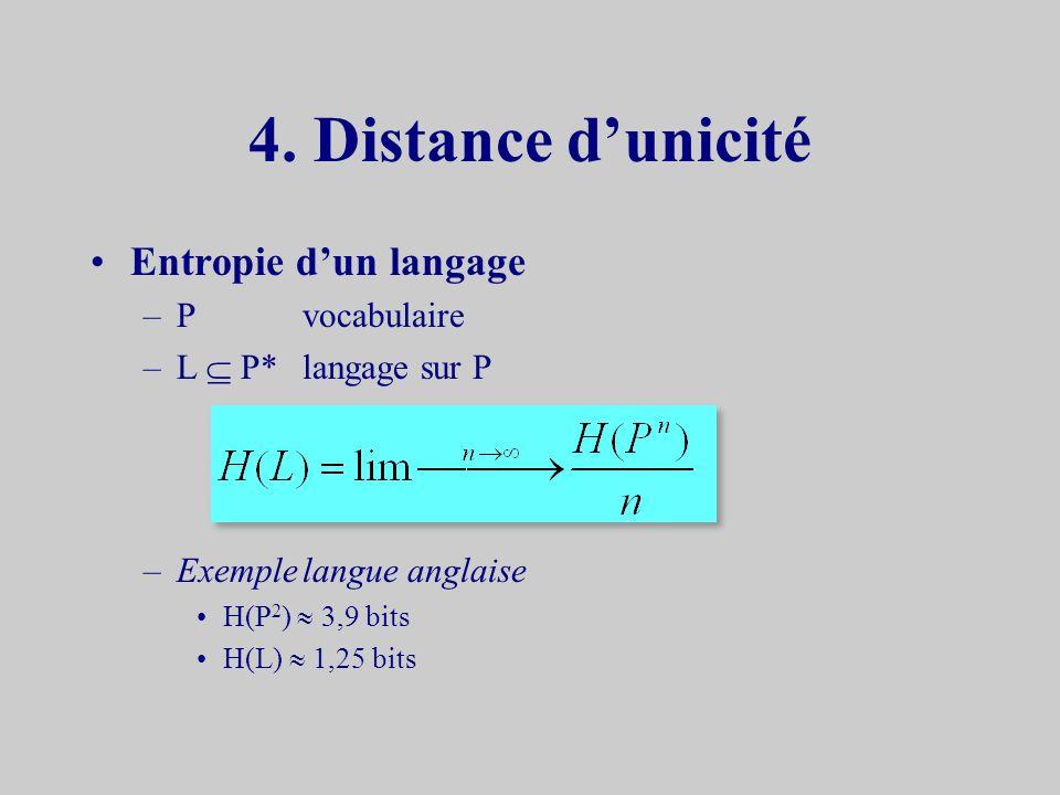 Réciproque une seule clef k utilisée avec la probabilité 1 / |K| C Q F D