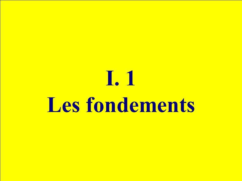 I. 1 Les fondements