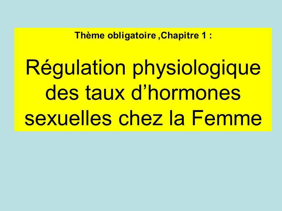 Thème obligatoire,Chapitre 1 : Régulation physiologique des taux dhormones sexuelles chez la Femme
