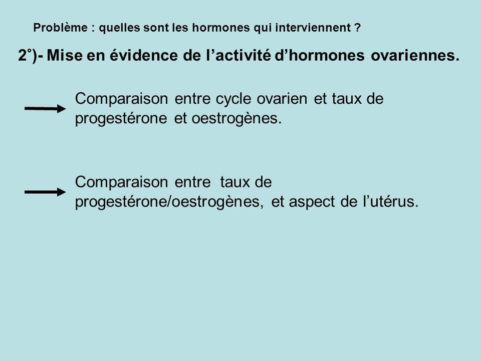 Problème : quelles sont les hormones qui interviennent .