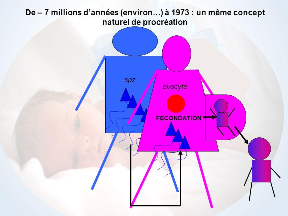 spz ovocyte De – 7 millions dannées (environ…) à 1973 : un même concept naturel de procréation FECONDATION