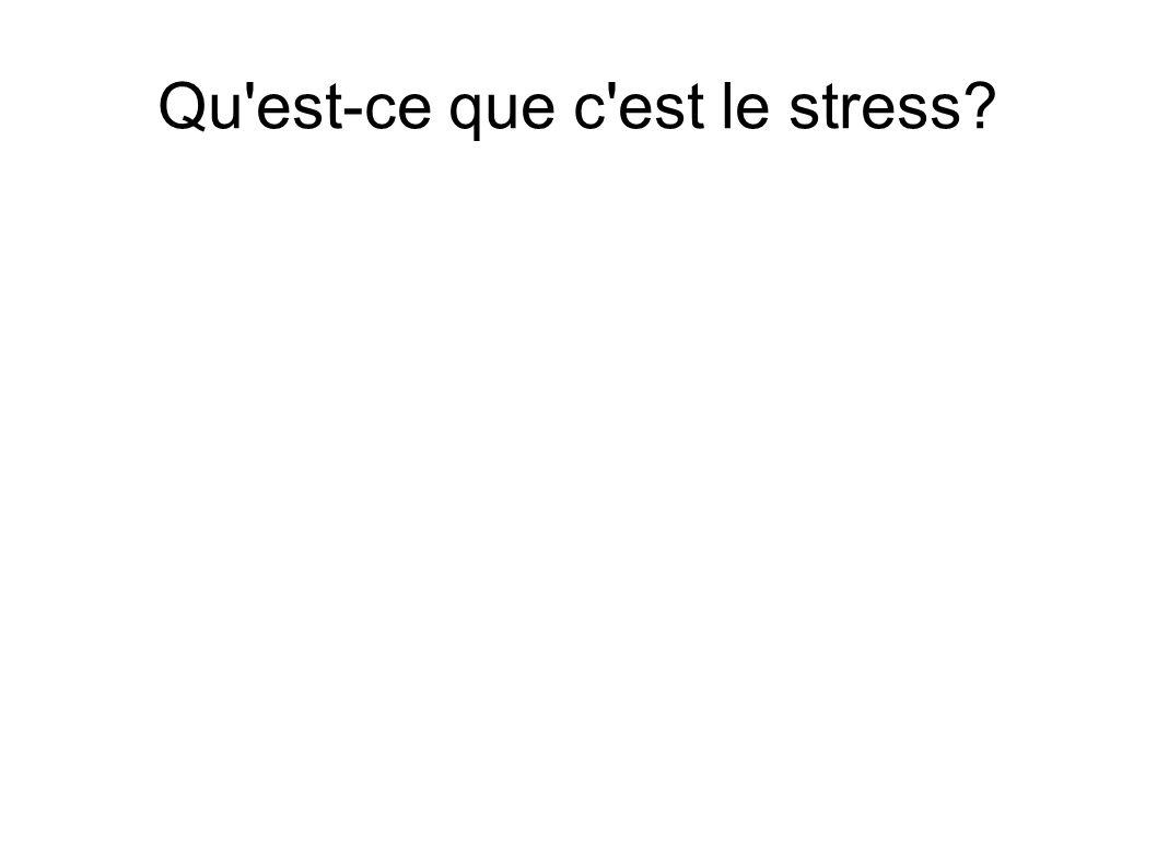 Qu est-ce que c est le stress?