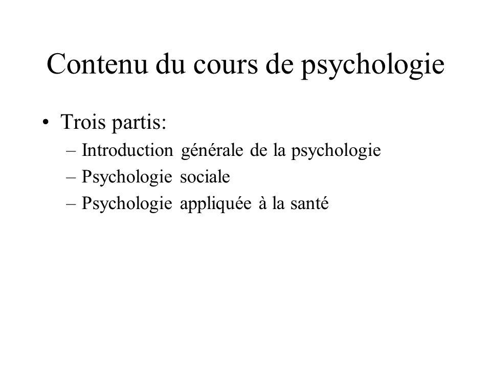 Introduction générale Quest que cest la psychologie.