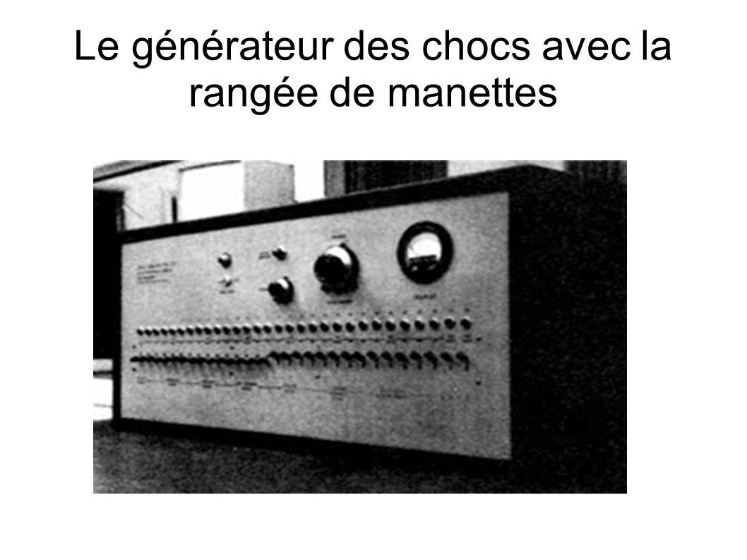 Le générateur des chocs avec la rangée de manettes