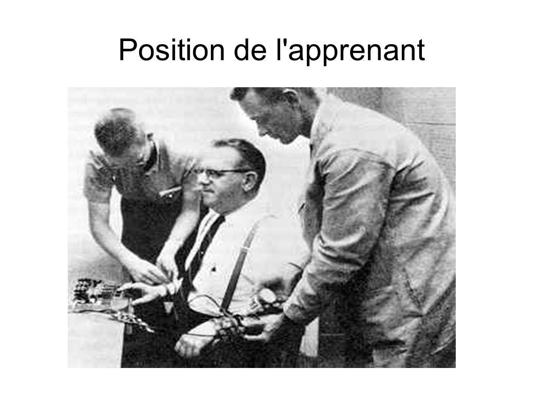 Position de l'apprenant