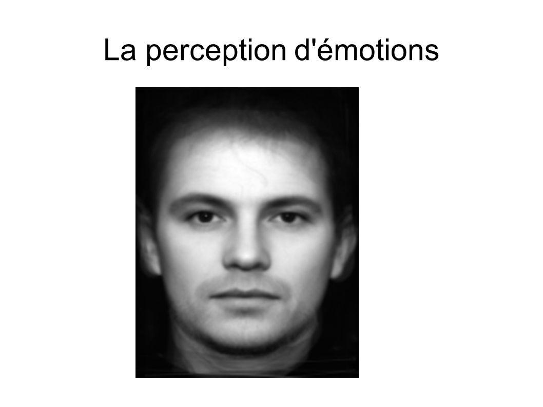 La perception d'émotions