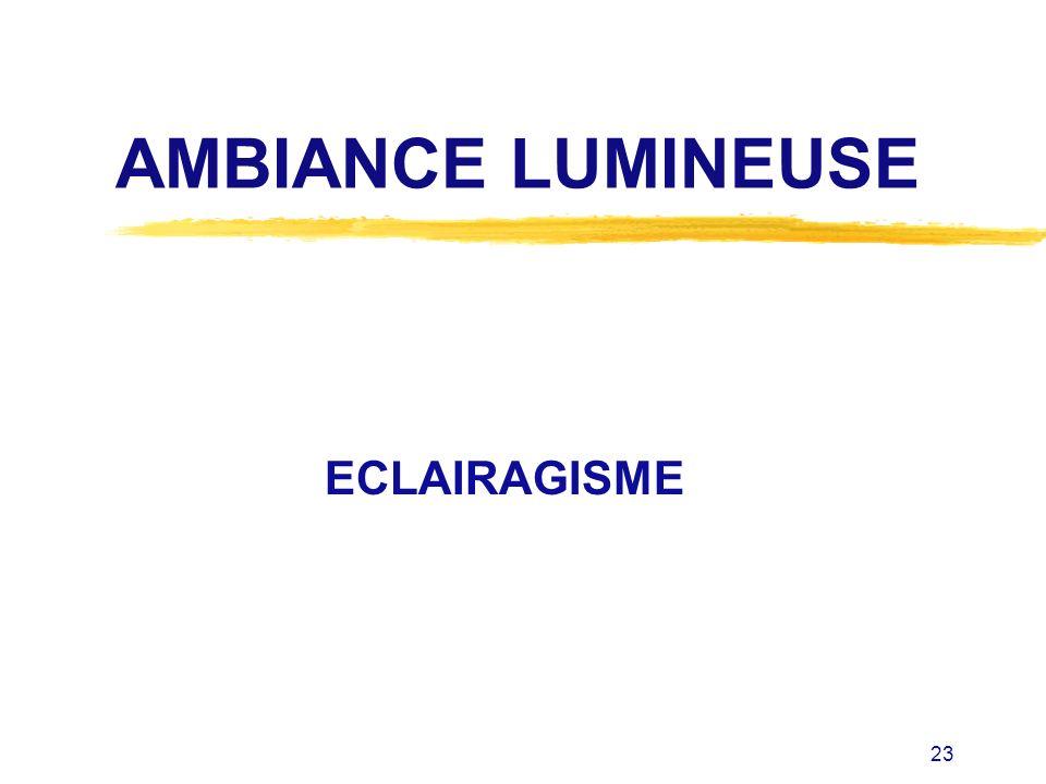 23 AMBIANCE LUMINEUSE ECLAIRAGISME