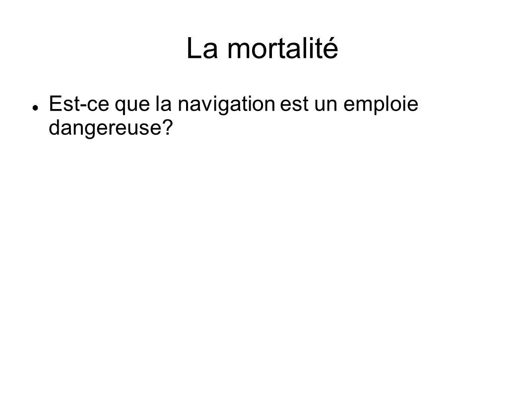 La mortalité Est-ce que la navigation est un emploie dangereuse?