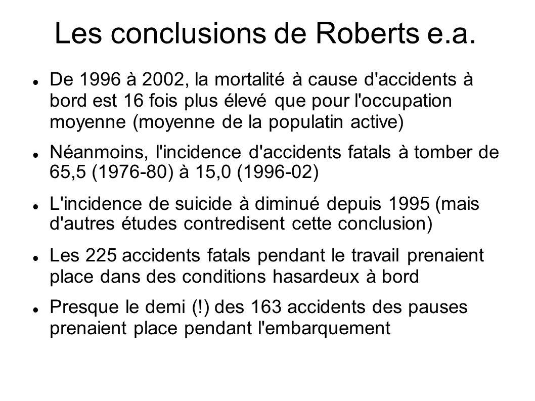 Les conclusions de Roberts e.a.