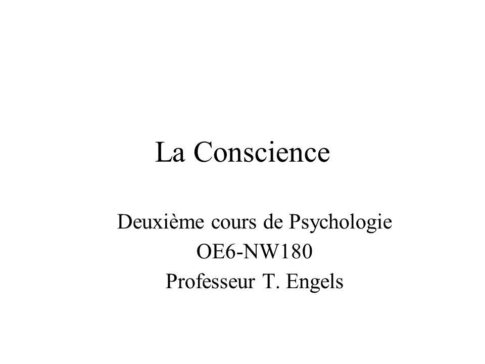 Contenu du cours Qu est-ce que c est la conscience.