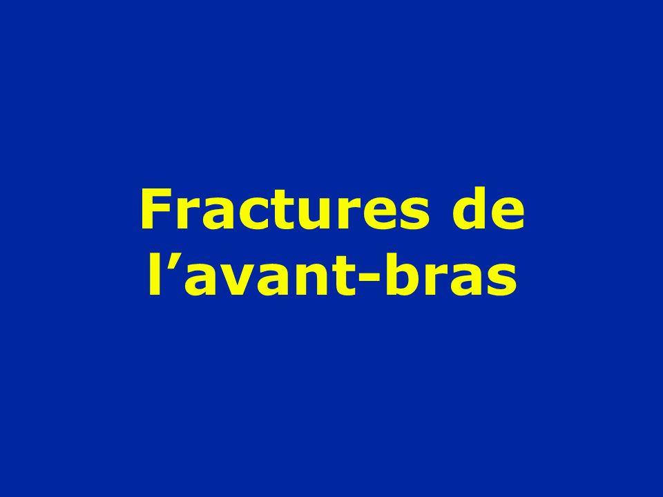 Fractures de lavant-bras