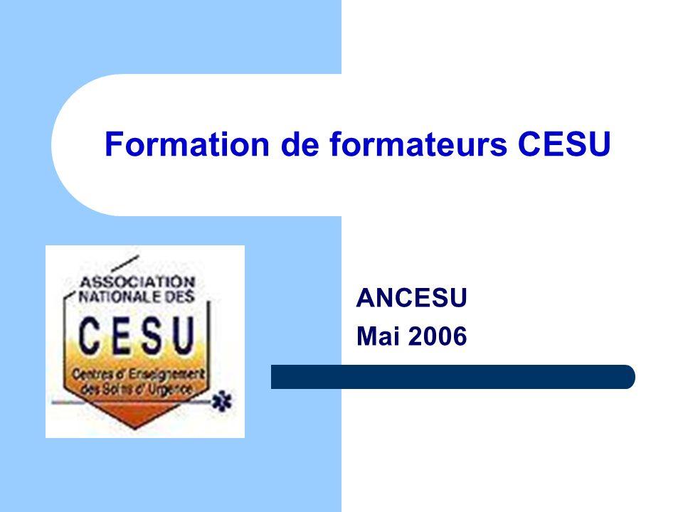 Formation de formateurs CESU ANCESU Mai 2006
