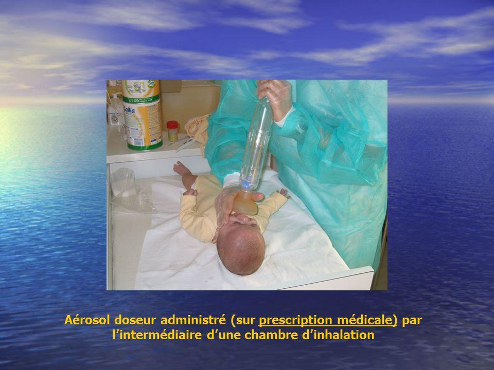 Aérosol doseur administré (sur prescription médicale) par lintermédiaire dune chambre dinhalation
