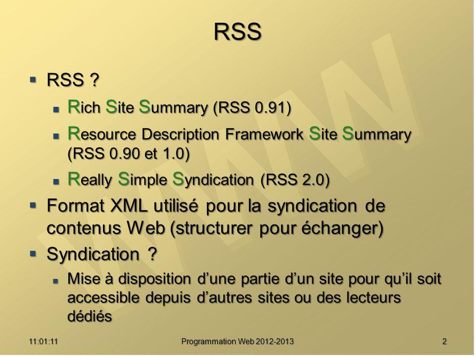 211:02:47 RSS RSS ? RSS ? R ich S ite S ummary (RSS 0.91) R ich S ite S ummary (RSS 0.91) R esource Description Framework S ite S ummary (RSS 0.90 et