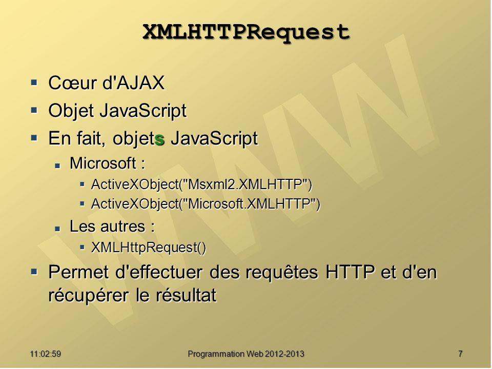 11:04:45 Programmation Web 2012-2013 Exemple XML DOM liste animalidani= AC001-03 noman visites Aquilon 1 animalidani= AC001-01 noman visites Bobo3 ¶·· ¶···· ¶···· ¶·· ¶···· ¶···· ¶····¶···· ¶·· <liste> Aquilon Aquilon 1 1 Bobo Bobo 3 3 </liste> 38