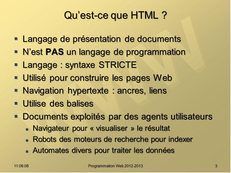311:07:59 Quest-ce que HTML .
