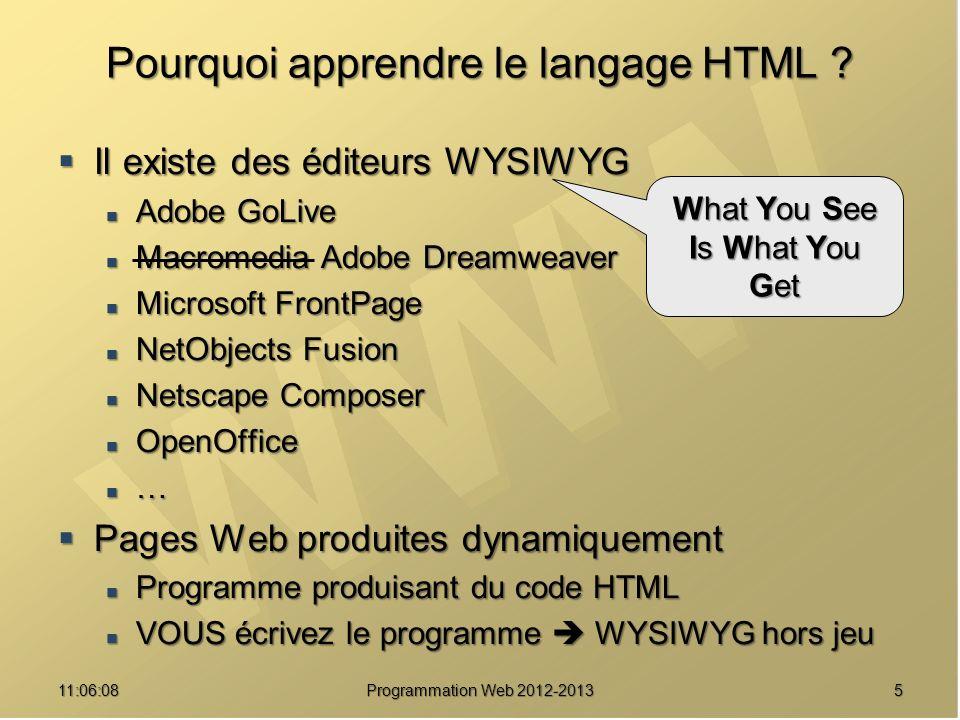 511:07:59 Pourquoi apprendre le langage HTML .