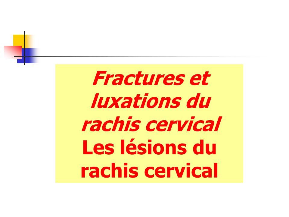 Fractures et luxations du rachis cervical Les lésions du rachis cervical