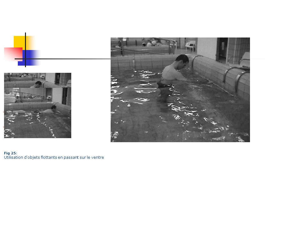 Fig 25: Utilisation d'objets flottants en passant sur le ventre
