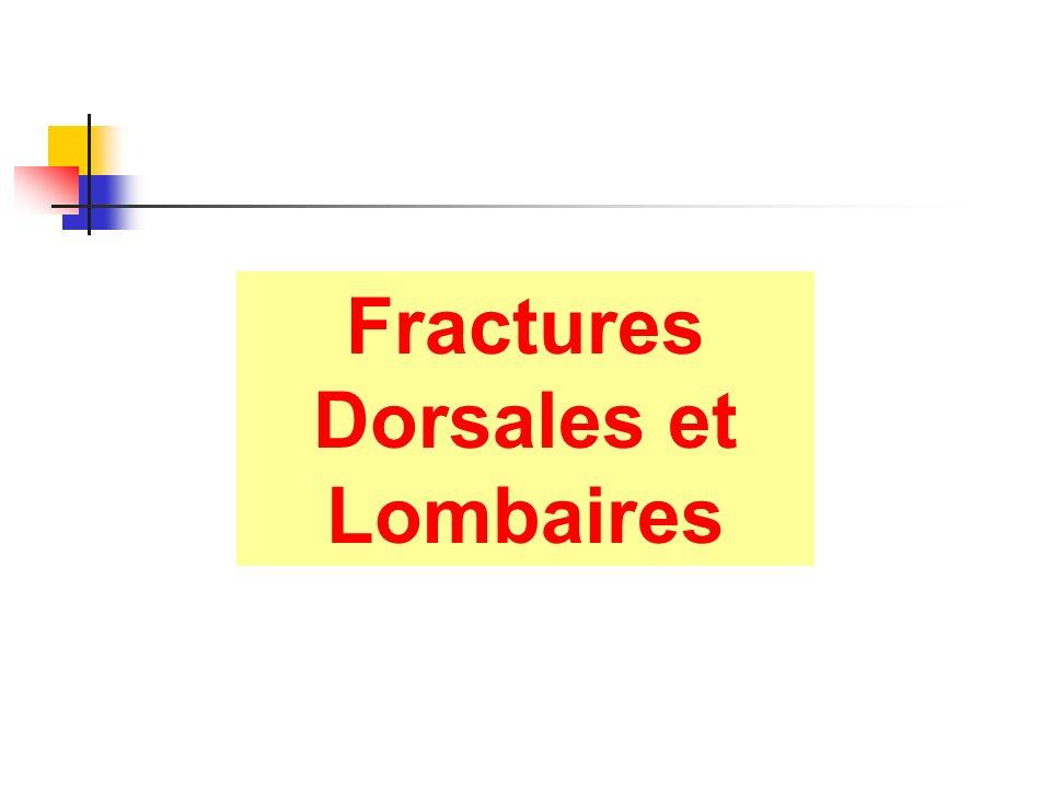 Fractures Dorsales et Lombaires