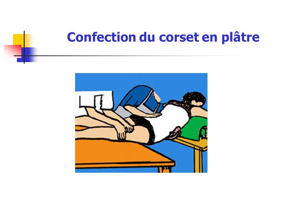 Confection du corset en plâtre
