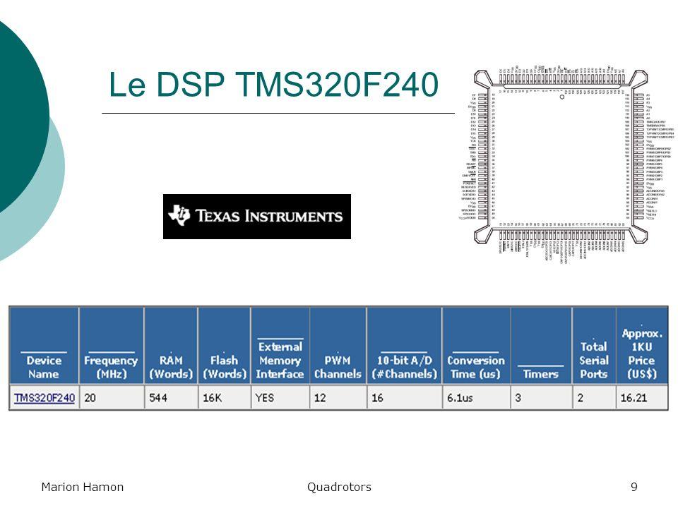 Marion HamonQuadrotors9 Le DSP TMS320F240