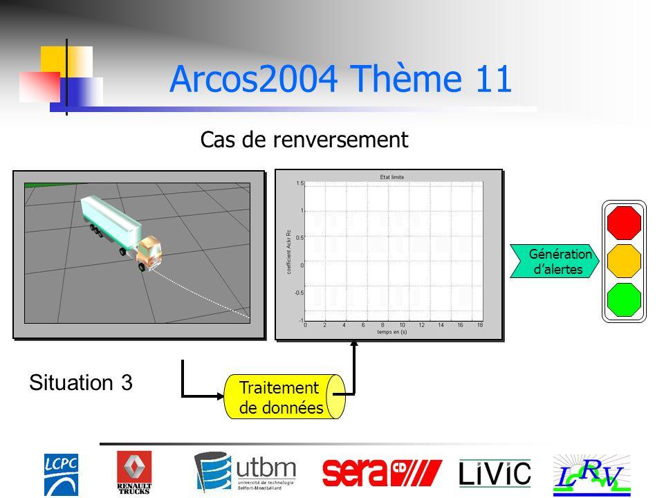 Cas de renversement Traitement de données Arcos2004 Thème 11 Situation 3 Génération dalertes