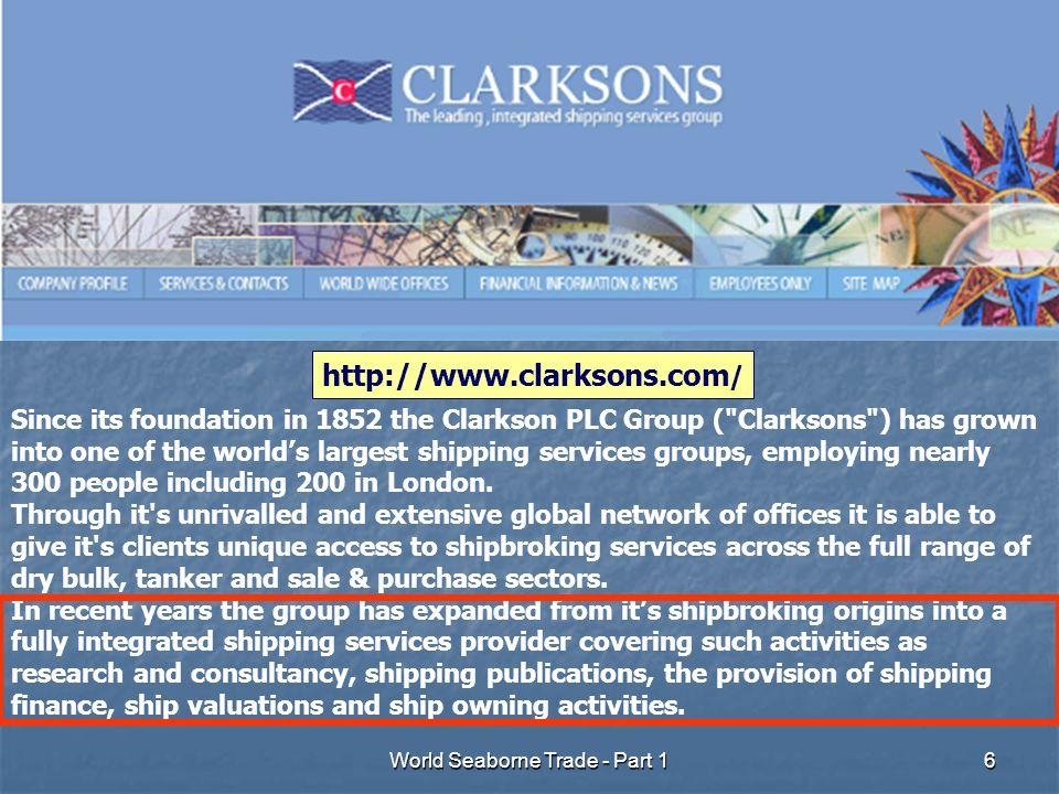 World Seaborne Trade - Part 17