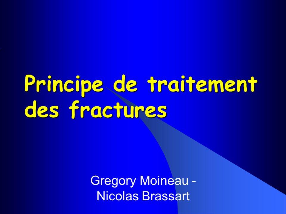 Gregory Moineau - Nicolas Brassart Principe de traitement des fractures