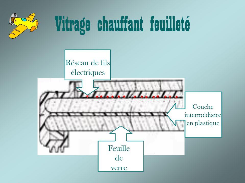 Vitrage chauffant feuilleté Feuille de verre Couche intermédiaire en plastique Réseau de fils électriques