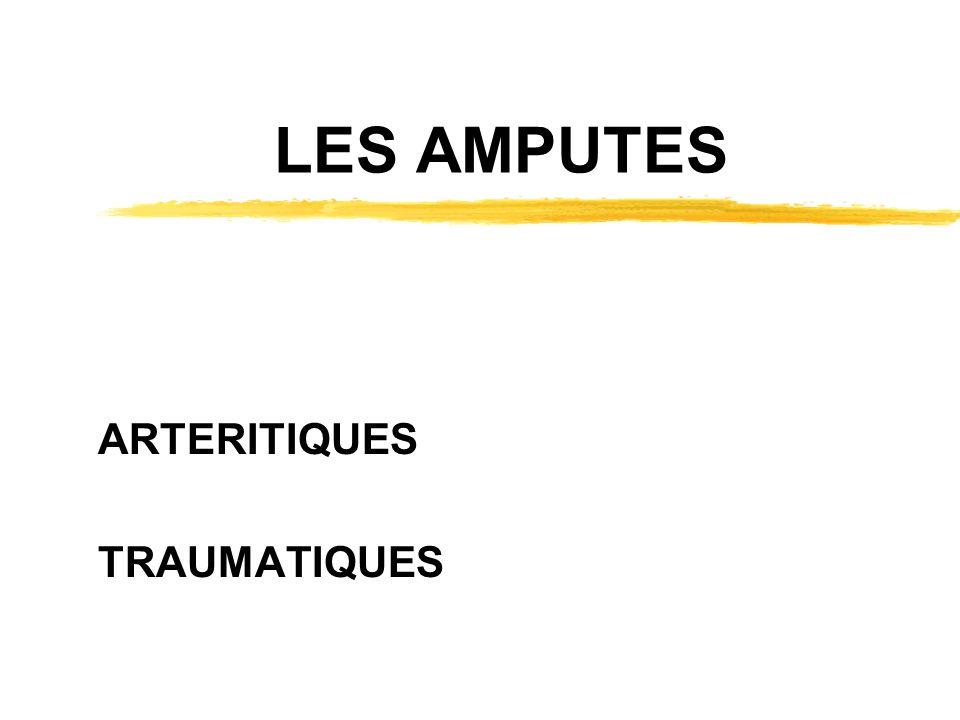 LES AMPUTES ARTERITIQUES TRAUMATIQUES