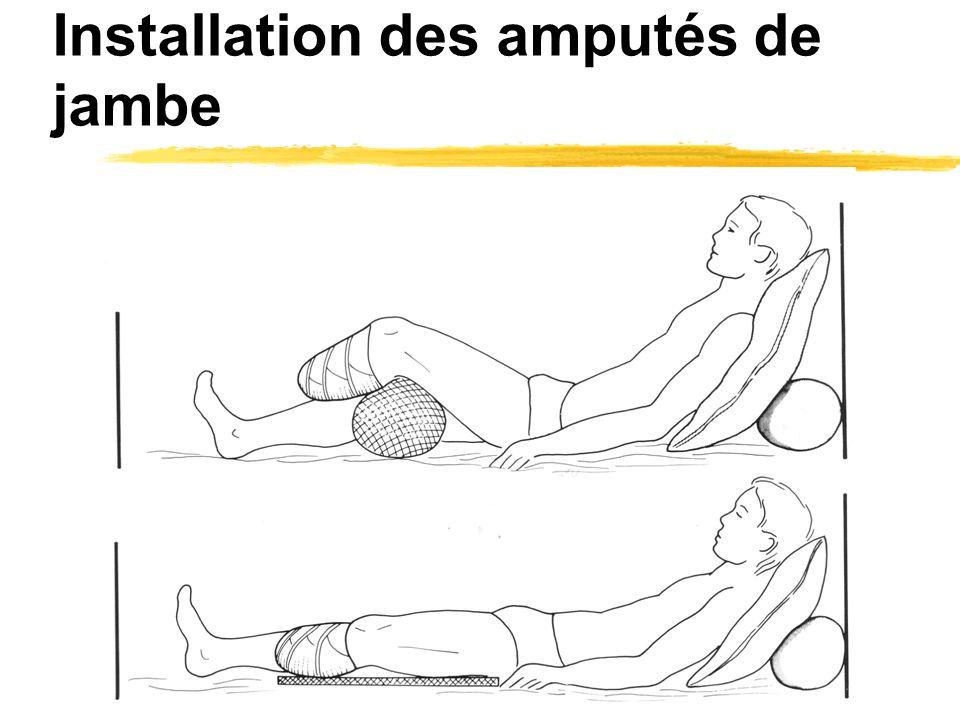 Installation des amputés de jambe