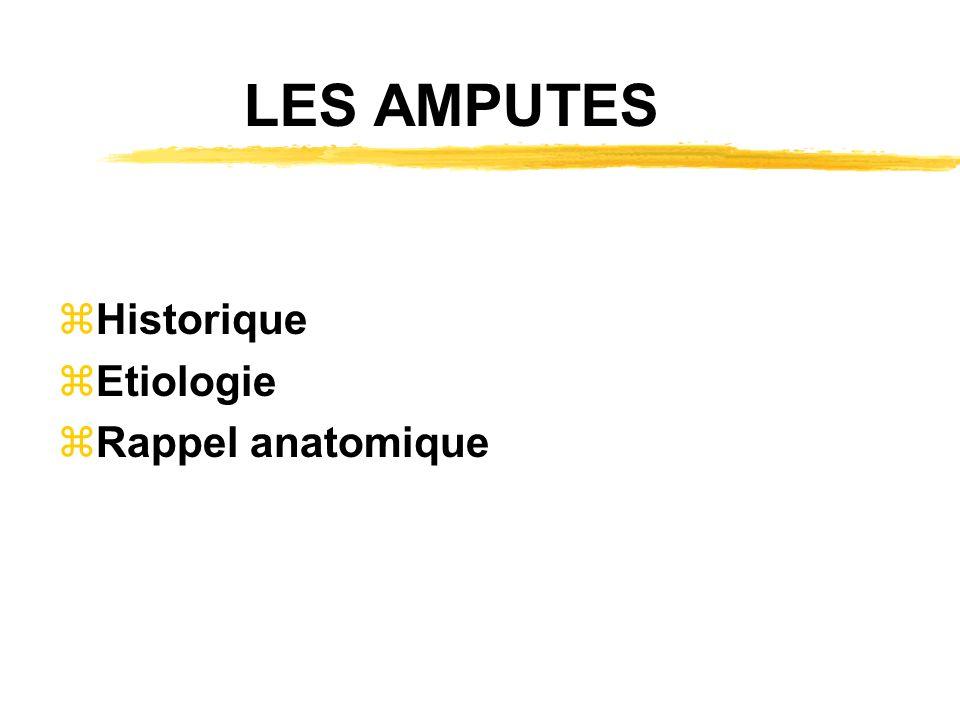 AMPUTATIONS DE PIED zOrteils zGros orteil zTransmeta zLisfranc ou transcunéocuboidienne zChopart ztibioastragaliennes