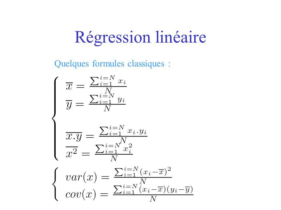 Quelques formules classiques :