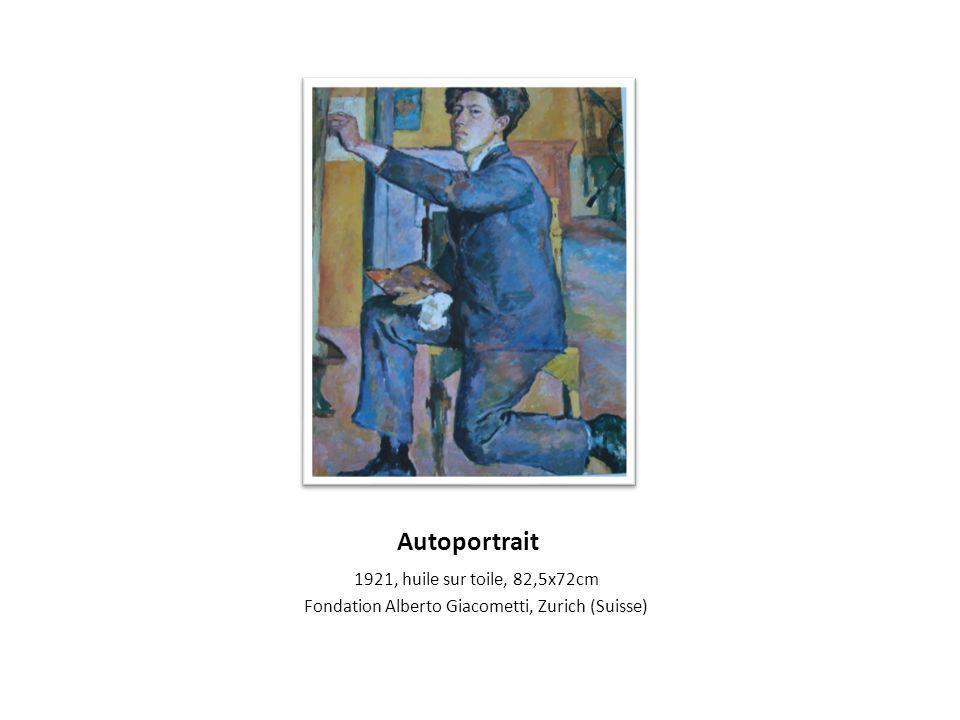 Autoportrait 1921, huile sur toile, 82,5x72cm Fondation Alberto Giacometti, Zurich (Suisse)