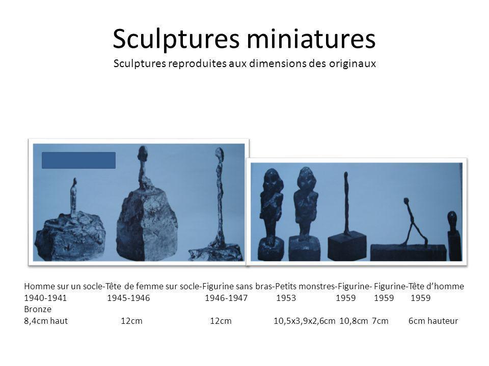 Sculptures miniatures Sculptures reproduites aux dimensions des originaux Homme sur un socle-Tête de femme sur socle-Figurine sans bras-Petits monstre