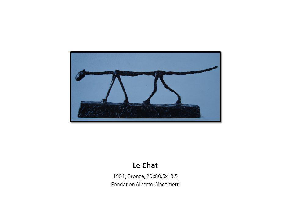 Le Chat 1951, Bronze, 29x80,5x13,5 Fondation Alberto Giacometti