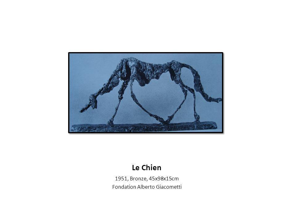 Le Chien 1951, Bronze, 45x98x15cm Fondation Alberto Giacometti