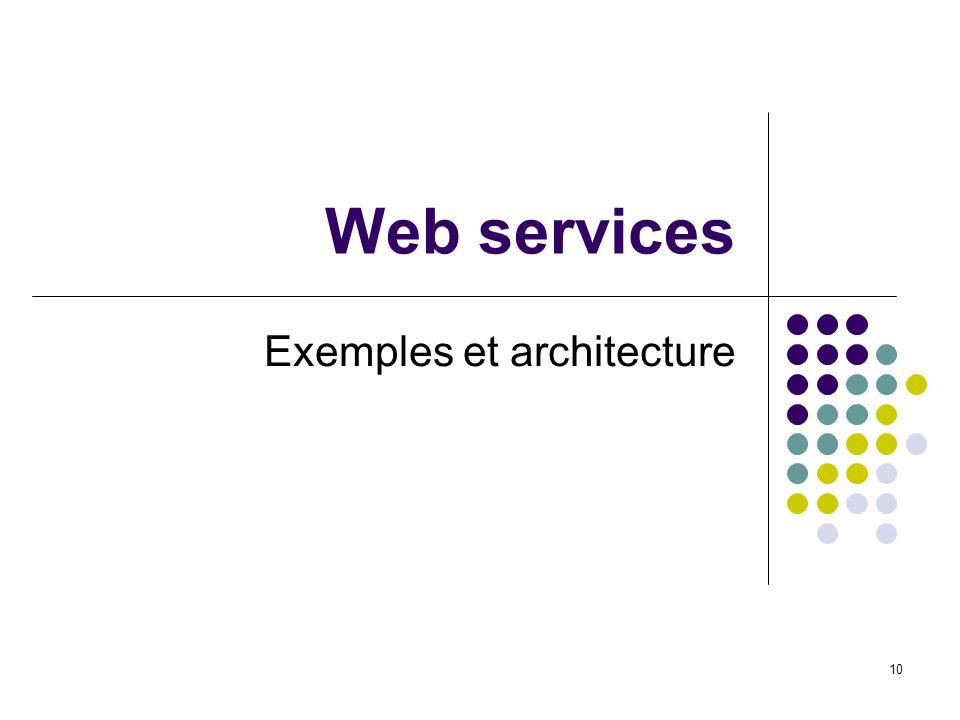 10 Web services Exemples et architecture