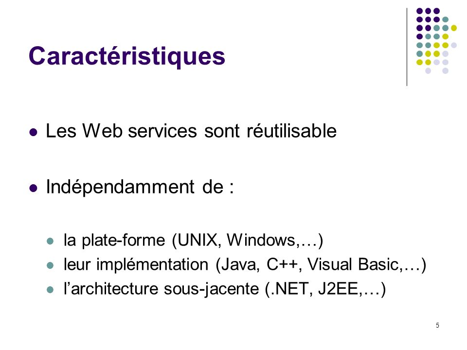 26 Web services WSDL : Web Services Description Language
