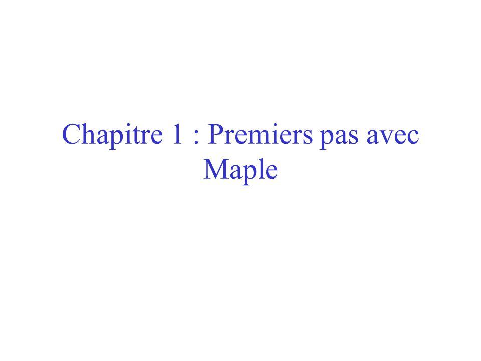 Environnement de travail Maple