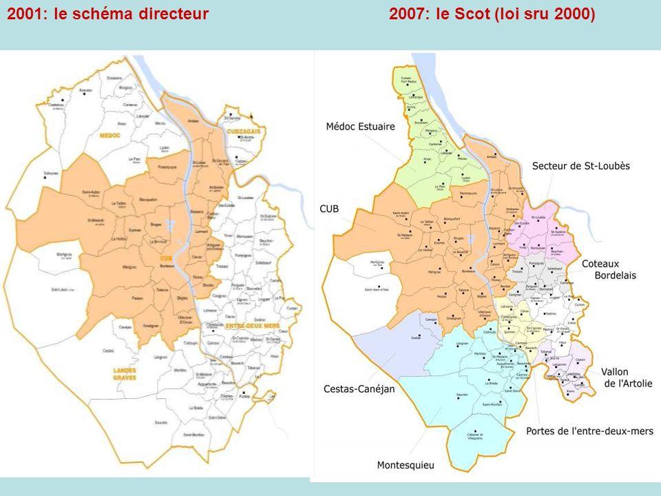 2007: le Scot (loi sru 2000)2001: le schéma directeur