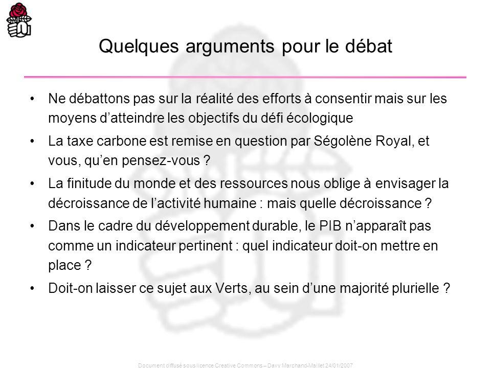 Document diffusé sous licence Creative Commons – Davy Marchand-Maillet 24/01/2007 Quelques arguments pour le débat Ne débattons pas sur la réalité des