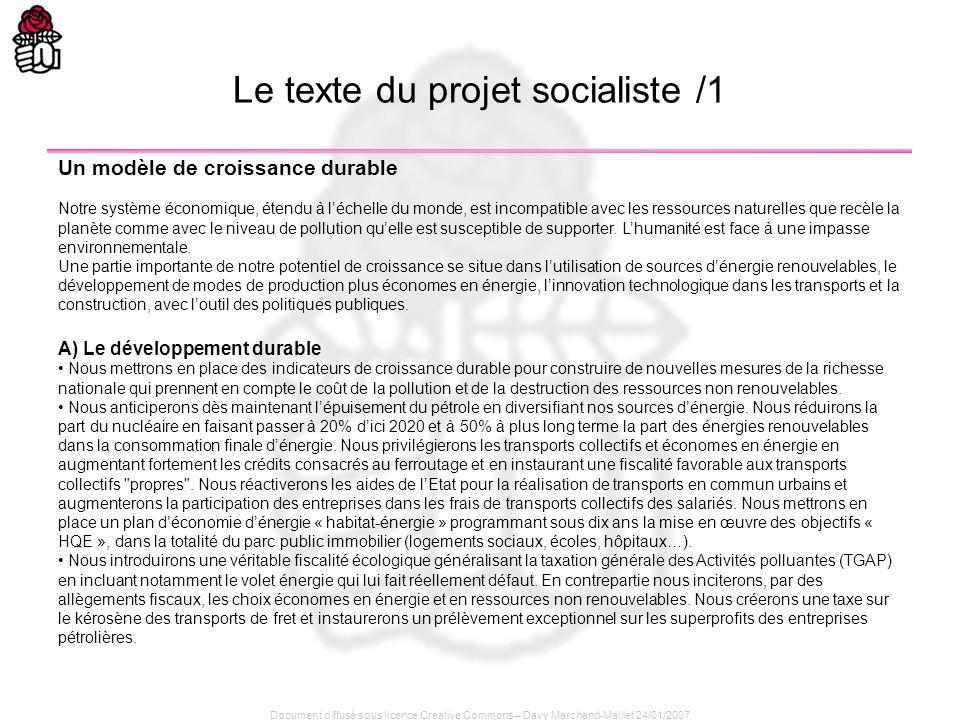 Document diffusé sous licence Creative Commons – Davy Marchand-Maillet 24/01/2007 Un modèle de croissance durable Notre système économique, étendu à l