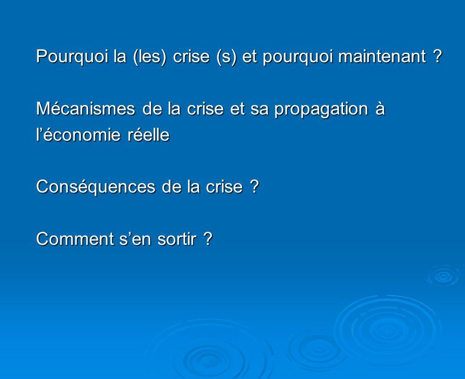 Pourquoi la crise et pourquoi maintenant (été 2007).