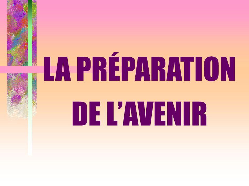 LA PRÉPARATION DE LAVENIR