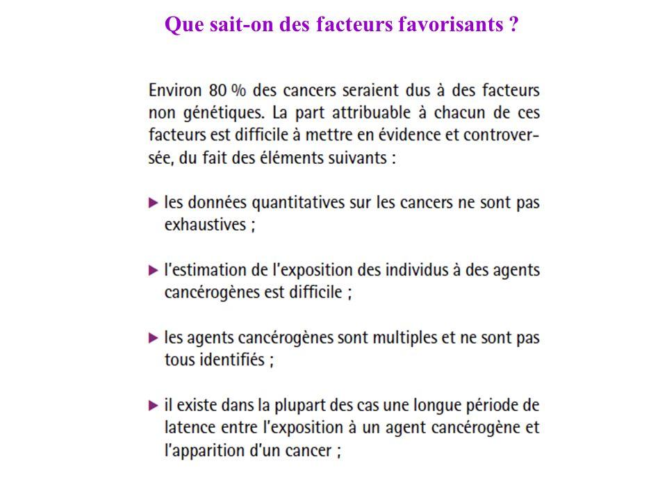 Que sait-on des facteurs favorisants ?