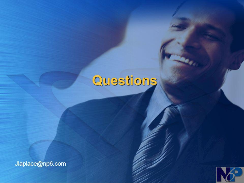 Questions Jlaplace@np6.com